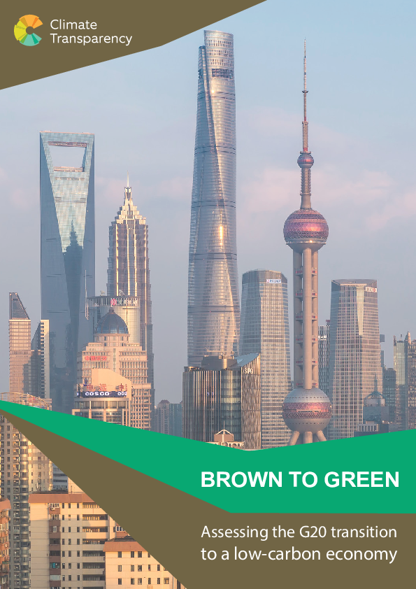 Brown to Green – Assessing the G20 transition to a low-carbon economy