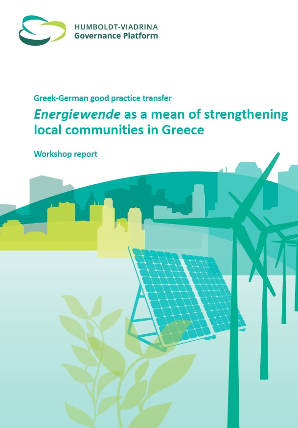 AAGreeceCover - Workshop Report Energiewende as a mean of strengthening local communities in Greece (EN)