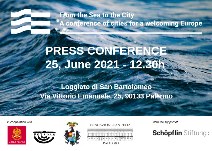 """Screenshot 2021 06 22 at 18 08 14 Invito stampa Invito stampa 1 1 1 pdf - """"From the Sea to the City - A Conference of Cities for a Welcoming Europe""""."""