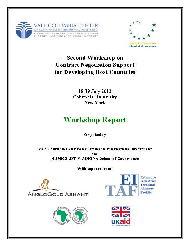 Negotiation Support Initiative – 2. Workshop Report (2012)