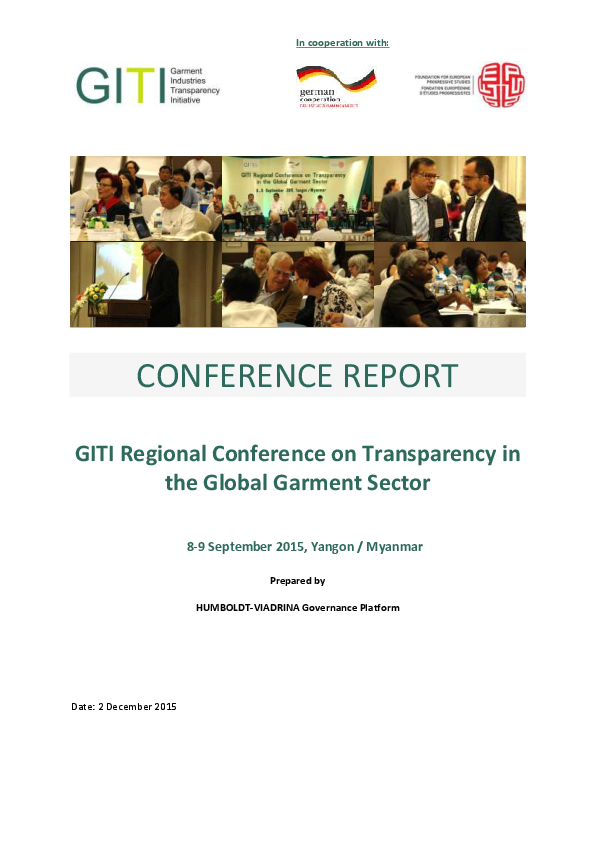 GITI Regional Conference on Transparency in the Global Garment Sector